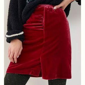 ANTHRO Montie Velvet Red Mini Skirt size 10